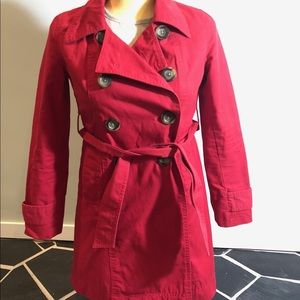 Jackets & Blazers - XSP Red Trench Coat